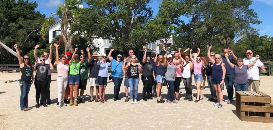 volunteer group shot august
